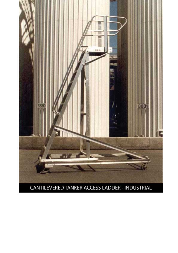 Custom Manufacturing Service - Cantilevered Tanker Access Ladder - Industrial