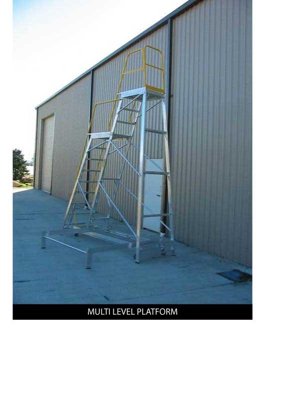 Custom Manufacturing Service - Multi-level Platform Ladder
