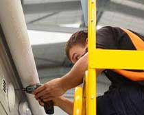 StockMaster TrackerPRO features a Safety Rail system that can be adjusted to your task.