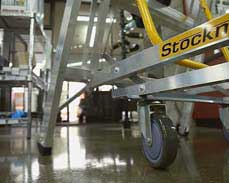StockMaster Navigator keeps all four feet firmly on the ground unless you're moving it.